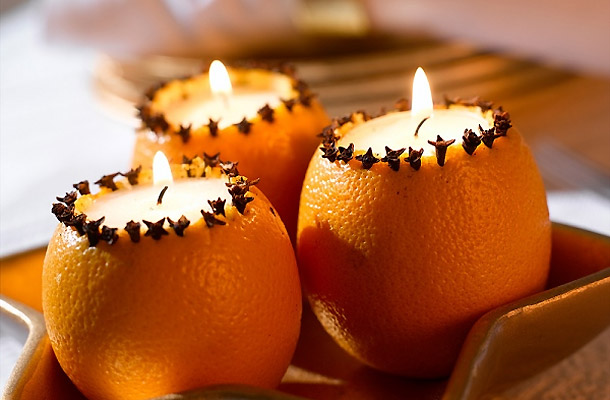 Christmas decor: candles