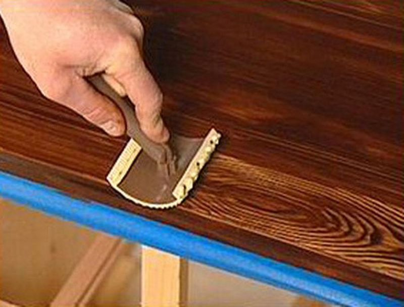 Using a roller or brush, shade along the surface