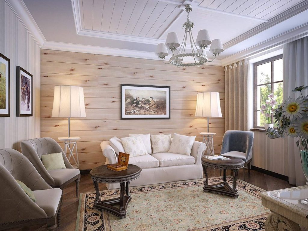 Use a wood paneling to decorate the accent wall