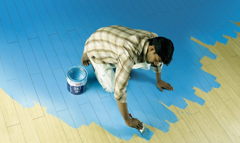 How do you like this blue floor?