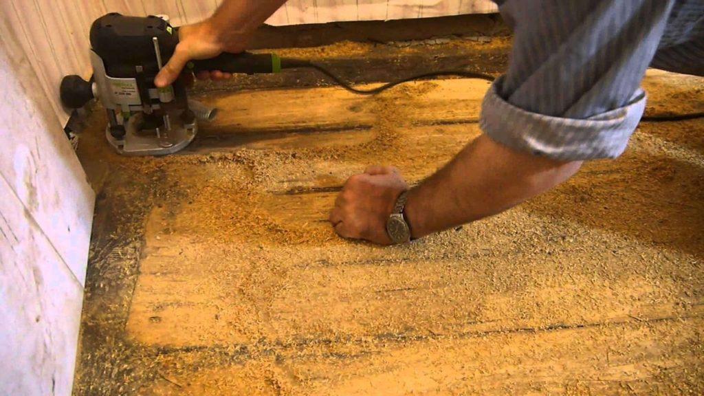 Wooden floor: prep work