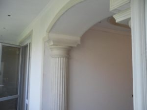Column from plasterboard