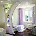 Decorative partitions made of plasterboard