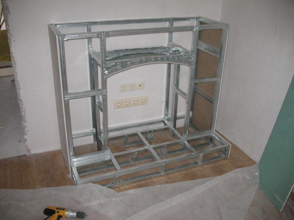 Drywall fireplace