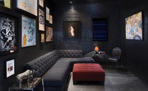 Black color in interior
