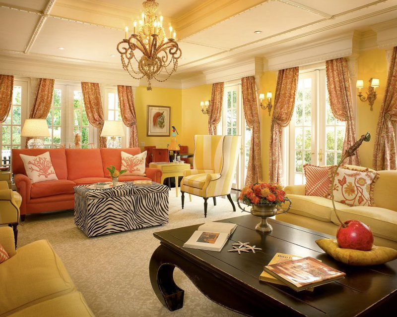 Gold color in interior