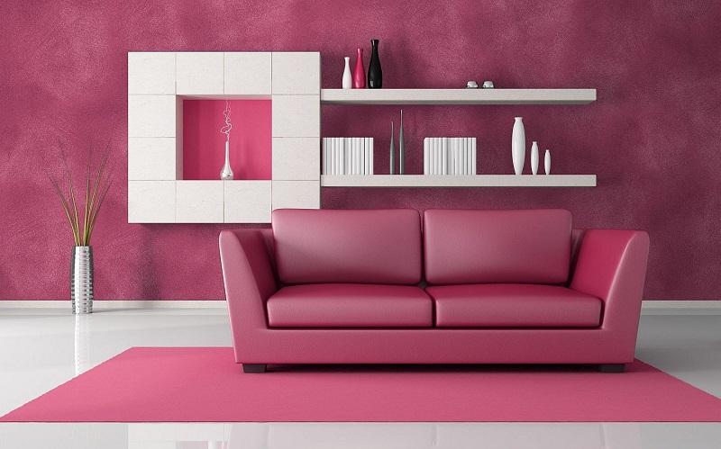 Pink color in interior