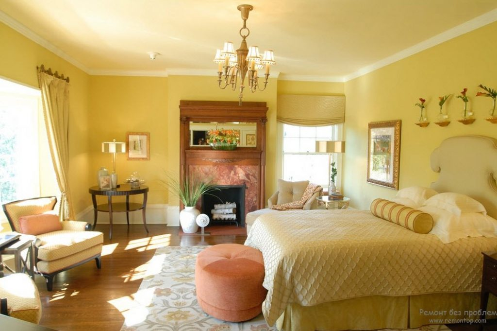 Yellow color in interior