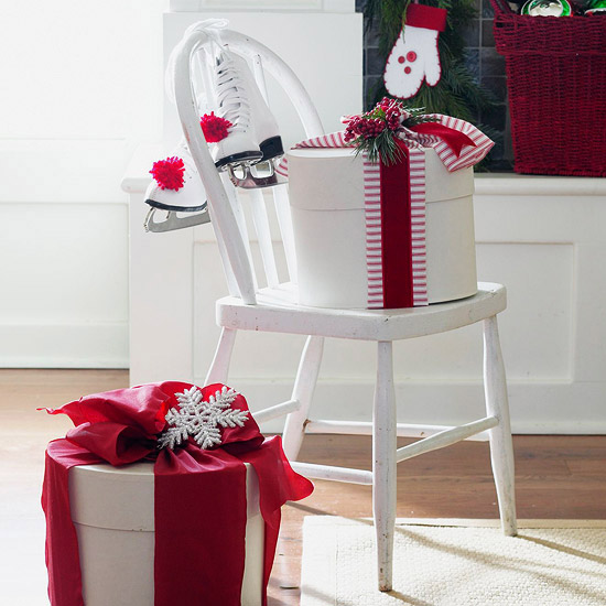 Give the chair a Christmas look
