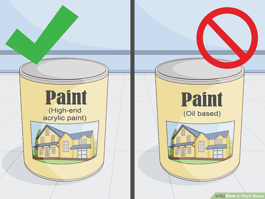 Use paint that's intended for masonry.