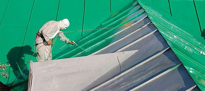 paint zinc roof