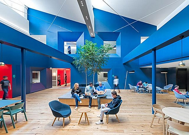 Blue interior office