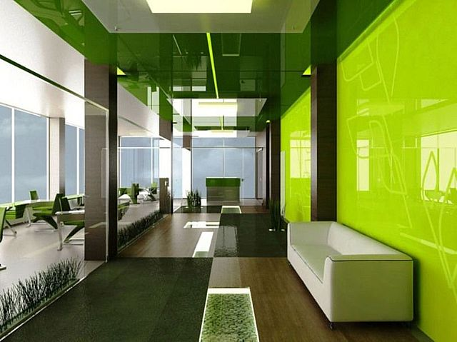 Green color in office