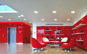Red color in office
