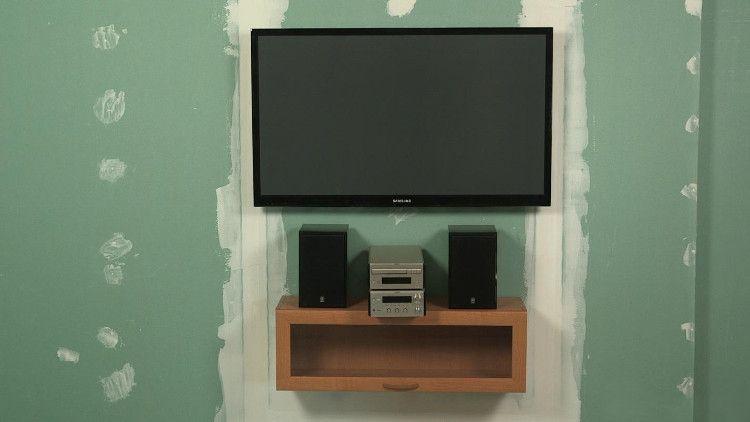 TV on drywall