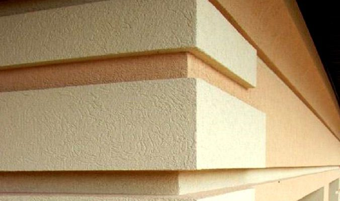 Features of facade plaster