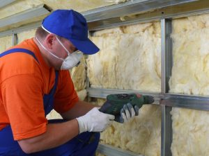 Drywall thermal insulation