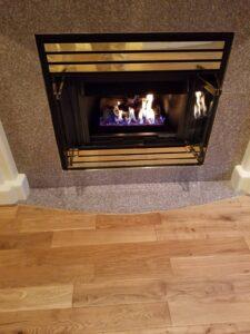 installation fireplace